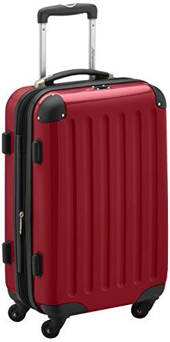 HAUPTSTADTKOFFER - Alex - Handgepäck Hartschalen-Koffer Trolley Rollkoffer Reisekoffer Erweiterbar, 4 Rollen, 55 cm, 42 Liter, Rot