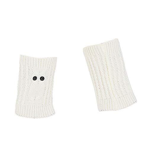 COZOCO Calentadores De Invierno Para Mujer Calientes De Punto Calzas Con Croché Leggings Slouch Boot Calcetines (una talla, Blanco)