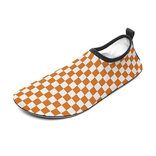 Zapatos de goma para hombre con diseño de tabla de ajedrez, color negro y rojo, calcetines para surf, excursionismo, white2 40/41
