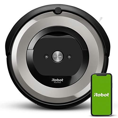 iRobot Roomba e5154 Wifi, Robot aspirador óptimo para mascotas, aspiración alta potencia, 2 cepillos goma, alfombras y suelos, Dirt Detect, sugerencias personalizadas, compatible con asistentes voz