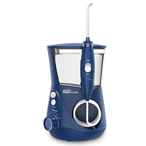 Waterpik Water Flosser Electric Dental Countertop Professional Oral Irrigator For Teeth, Aquarius, WP-663 Blue