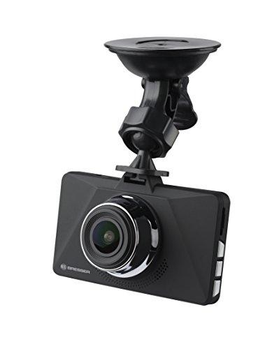 Bresser Dashcam Autokamera Full-HD 1080p mit 140° Erfassungswinkel, Tages- und Nachtfunktion, G-Sensor und integriertem Akku
