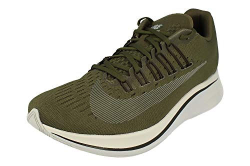 Nike Zoom Fly Mens Running Trainers BV1087 Sneakers Shoes (UK 7 US 8 EU 41, Cargo Khaki Metallic Silver 300)