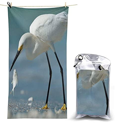 Paedto Toalla de playa, extra grande, 80 x 130 cm, suave, altamente absorbente, ideal para viajes diarios, camping, gimnasio, piscina, sillas de playa, carrito de playa, aves de Teesobunny