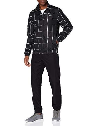 Lacoste Sport WH2049 Pantalon de survêtement, Noir/Blanc, M Homme
