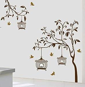 Nonebranded vinilos de Pared Decorativos Jaulas de pájaros Removibles Pegatinas de Pared-hogar Pegatinas de Dormitorio Pegatinas de Sala de Estar Pegatinas de Dormitorio