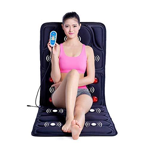 Ammortizzatore di massaggio elettrico, cuscino di massaggio cervicale cuscino di massaggio del collo digitopressione Far Infrared materasso di massaggio tappetino 110-240V, rilassare la tensione musco