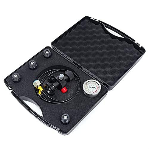 YKQJS-YQ Hydraulic Hand Tools 0-400Bar 6000Psi Pressure Gauges Test Kit Gauges Set Hydraulic Accumulator Nitrogen Charging Fill Gas Valve Five Type Adapter Hydraulic Crimping Machine