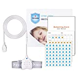 Bedwetting Alarm for Boys Girls Kids, Loud Sound and Strong Vibration, USB Rechargeable Potty Alarm, Bed-wetting Sensor for Kids Adults
