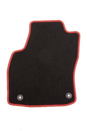 Racer Passform Auto Fußmatte aus Velours mit roter Hochglanzkettelung und Mattenhaltern für 1er (F21) 3-türig, Baujahr 09/2012-00/0000