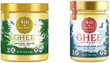 Original Grass Fed Ghee by 4th Heart 16 Ounce Keto Pasture Raised Non GMO Lactose Free Certified product image