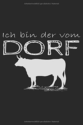 Ich Bin Der Vom Dorf: Dorfkind Bier Geschenkidee - Notizbuch - 6x9 Zoll - Karriert - 120 Seiten