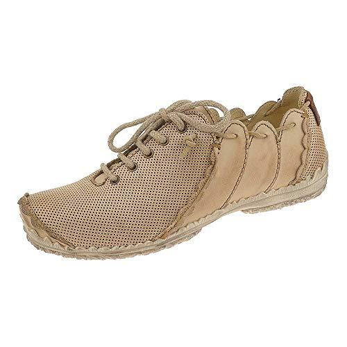 Rovers Damen Schuhe Leder Schnürhalbschuhe 60000 Crust Costa Picado Beige (41 EU)