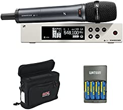 Sennheiser ew 100-835 G4-S Wireless Handheld Microphone System A1: (470 to 516 MHz) with GM-1W Wireless Mobile Pack & 4-Hour Rapid Charger