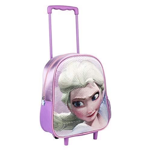 ARTESANIA CERDA 2100002660 Mochila Carro Infantil 3D Frozen, Morado, 31 cm