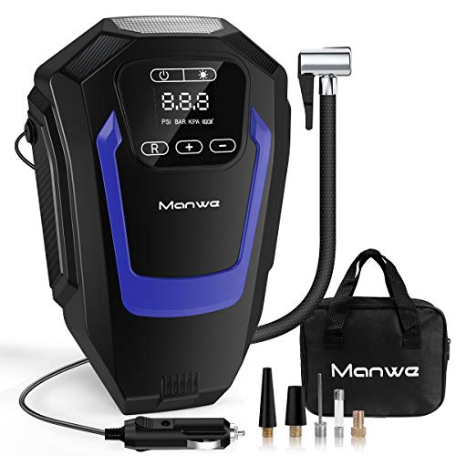 Manwe Portable Air Compressor Pump,Digital Tyre Inflator,DC 12V 150PSI,Tire Inflator Car Pump Tyre...