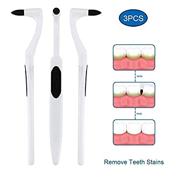 Tooth Stain Remover Dental Plaque Tool Tartar Eraser Polisher Professional Teeth Whitening Polishing Cleaning Kit Home Calculus Removal Effectively NOT Electric Cleaner Brush/Dentist