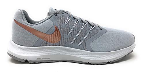 Nike Womens Run Swift Woven Low Top Running Shoes Gray 8.5 Medium (B,M)