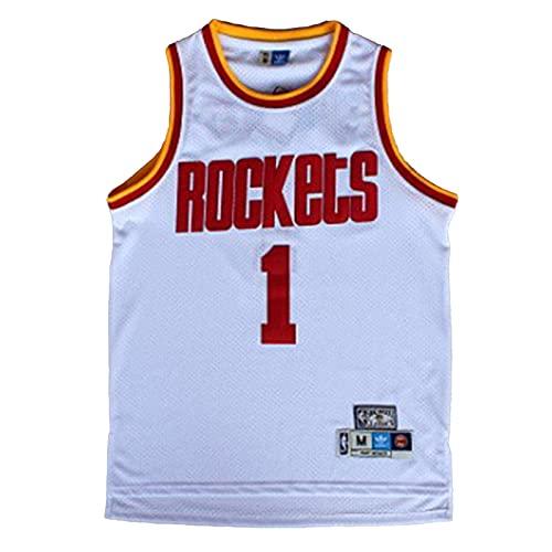 KKSY Camisetas de Hombre Tracy McGrady # 34 Houston Rockets Camisetas de...
