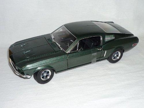 Greenlight Ford Mustang GT Fastback Coupe 1968 GrÜn Film Bullitt Steve McQueen Mc Queen Bulit Bullit 1/18 Modellauto Modell Auto