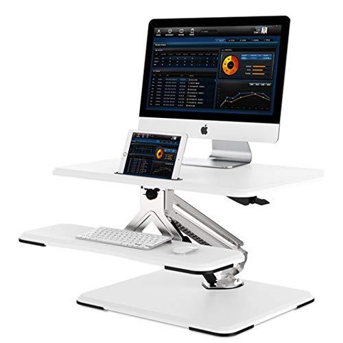 MLKARDUT Standing Bureau Converter Computer Werkstation Verstelbare Hoogte Bureau Home Office Bureau Sit Stand Bureau Dual Laptop Monitor Riser, 26 inch