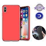 LucaSng Magnethülle Kompatibel für iPhone 11 Pro Max, Magnethülle für Magnet-Autotelefonhalter mit unsichtbarer eingebauter Metallplatte, Kratzfeste Abdeckung für iPhone 11 Pro Max, Rot