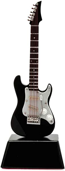 Music Treasures Co Black Electric Guitar With Base