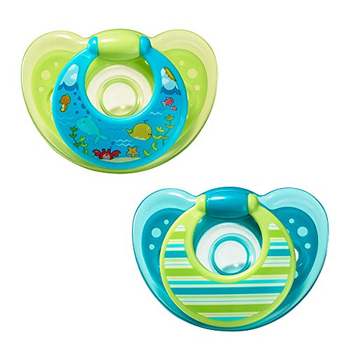 The First Years GumDrop Pacifier - Blue/Green - 6 - 18 Months by The First Years
