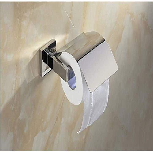 ZCM Portarrollos de papel higiénico de baño contemporáneos plata inoxidable 304 acabado pulido titular de pañuelos sin cubierta accesorios titular de papel higiénico