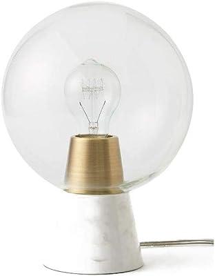 Lámpara de Mesa de Mármol Simple, Lámpara de Cabecera Pequeña y ...