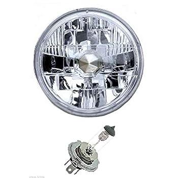OCTANE LIGHTING 5-3/4  6V Motorcycle Halogen Headlight Headlamp Crystal Clear Bulb 35/35W 6 Volt