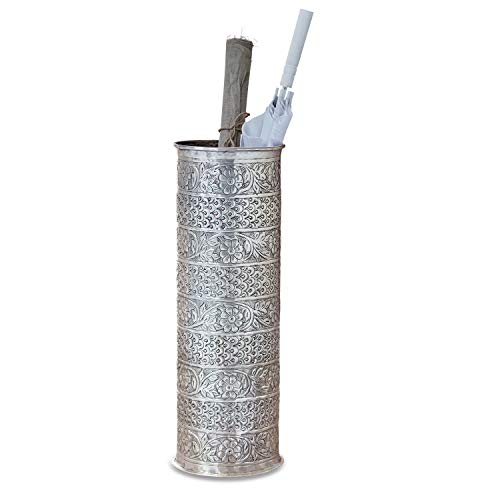 Loberon Schirmständer Néhou, Aluminium, H/Ø 60/20 cm, antiksilber