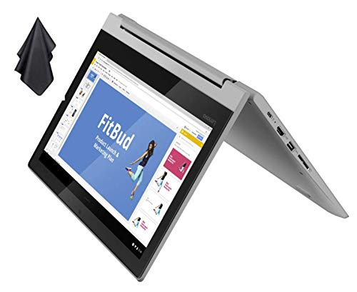 "2021 Newest Lenovo Flex 3 2-in-1 Convertible Chromebook, 11.6"" HD Touchscreen, MediaTek MT8173C CPU, 4GB RAM, 32GB eMMC, PowerVR Graphics, Dolby Audio, HD Webcam, Chrome OS, Grey + Oydisen Cloth"