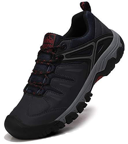 ASTERO Wanderschuhe Herren Trekkingschuhe Low Wanderhalbschuhe rutschfeste Schuhe Männer Outdoor Leichte Hiking Schnüren Wanderstiefel Größe 41-46 (BLAU, Numeric_41)