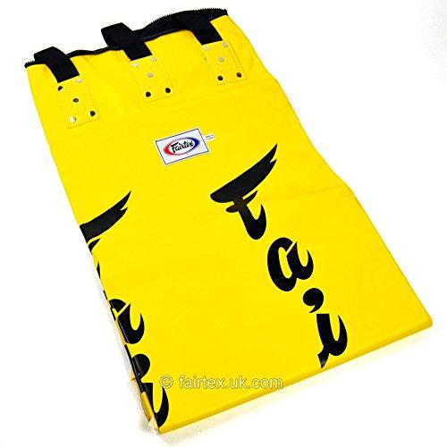 Fairtex Boxsack – Gelb 1,8 m Muay Thai Boxen Bananenbeutel (ungefüllt)
