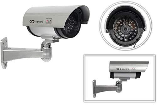 Vetrineinrete Telecamera di videosorveglianza finta CCTV dummy cam da esterno con un led lampeggiante a infrarossi e staffa di montaggio design professionale A32