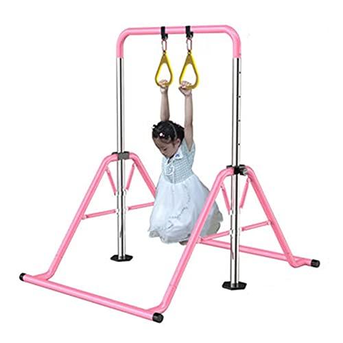 Barras de gimnasia Kip expandibles con tapete, barra horizontal plegable para el hogar con barra de práctica de altura ajustable Barra de entrenamiento junior para niños, niños, soporte para adultos