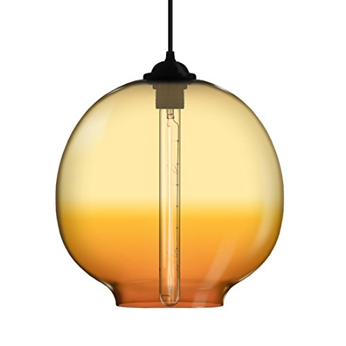 LAONA American modern creative restaurant bar European style industrial retro minimalist orange chandelier (35CM),orange