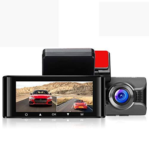 Elikliv 4K 1080P Dashcam con Dual Lente, Cámara Delantera y Trasera para Coche con Pantalla IPS GPS WiFi Modo de Aparcamiento G-Sensor WDR Grabación en Bucle Soporte Tarjeta de Memoria de 512GB