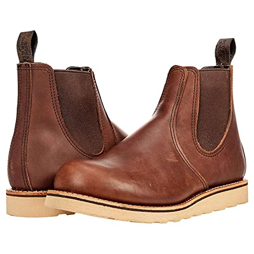 Red Wing Mens Classic Chelsea Leather Amber Boots 9.5 US