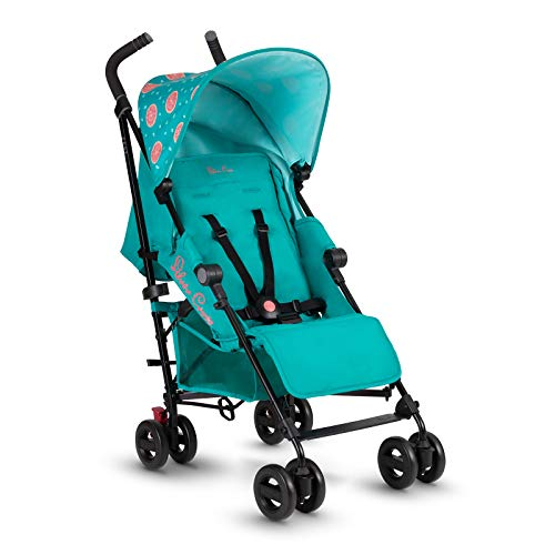 Silver Cross Zest Stroller, Compact and Lightweight Fully Reclining Baby To Toddler Pushchair – Grapefruit (New 2021)