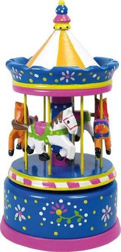 Ulysse Merry - Tiovivo de juguete, color azul