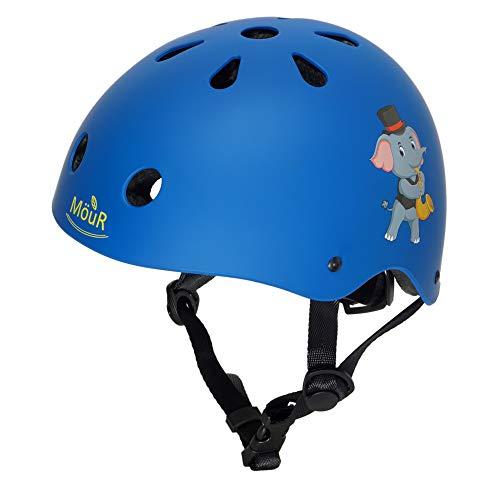 MöuR Kinder Fahrradhelm für 3-13 Jahre Alt Junge und Mädchen (Blau, S)