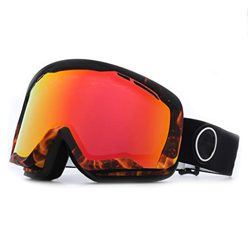 AZBYC Snowboard Ski Goggles Met Dual Layer Lens Protectie, skillng Goggles Fof Vrouwen Mannen (rood)