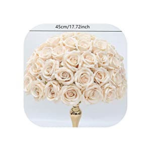 Heart-To-Heart Wedding Arch Decor Flower Row Arrangement Artificial Table Centerpiece Flower Ball Corner Curtain Floral,Champagne 45Cm