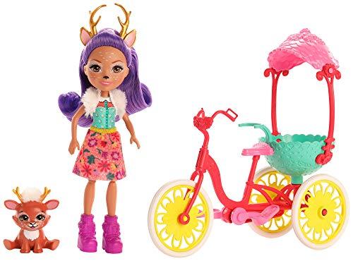 Enchantimals GJX30 - Fahrradfreunde Spielset mit Danessa Deer Puppe, Tierfreund Sprint und Fahrrad, Spielzeug ab 4 Jahren
