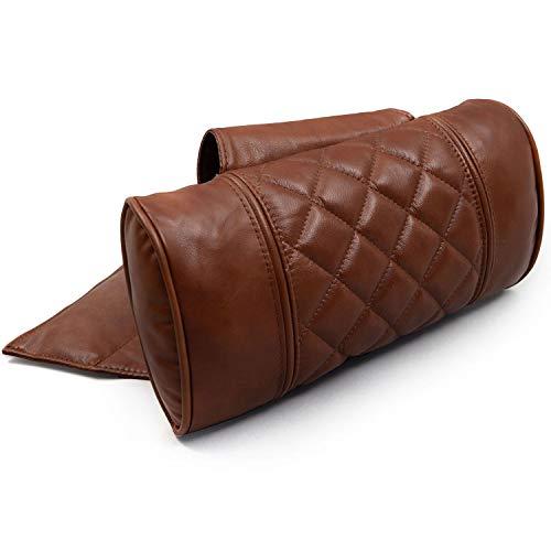 Octane Seating Recliner Pillow | Diamond Stitch | Cognac Leather