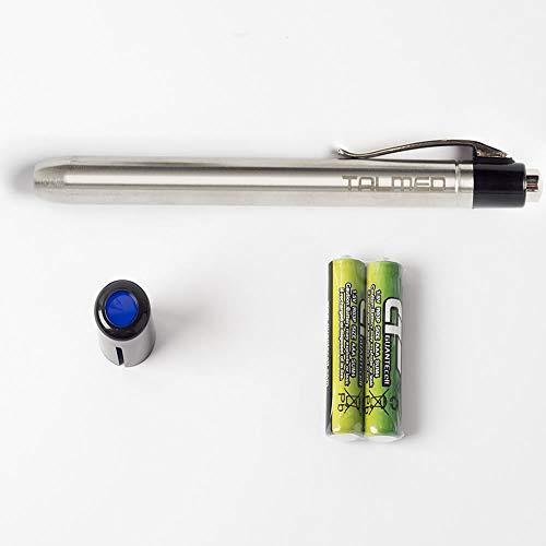 Linterna Medica LED color cromada con filtro azul-Unidad ✅