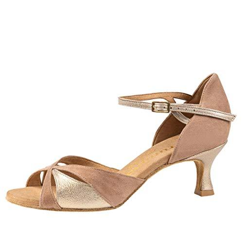 Rummos Mujeres Zapatos de Baile R385 122-183 - Material: Nobuk/Cuero - Color: Beige/Opal - Anchura: Normal - Tacón: 50R Flare - Talla: EUR 38,5