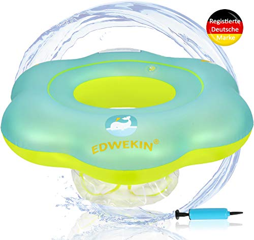 EDWEKIN Baby Schwimmring, Mitwachsende Schwimmhilfe, Schwimmsitz, Kleinkinder ab 6 Monate bis 2 Jahre (S)